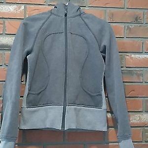 Lululemon medium/light grey hooded scuba hoodie.